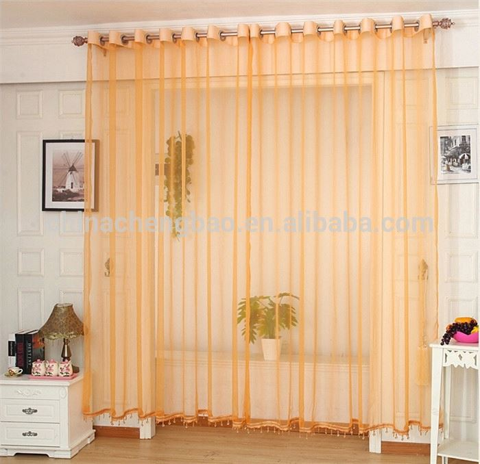 Ultra-thin breathable transparent modern lace fashion sheer curtains