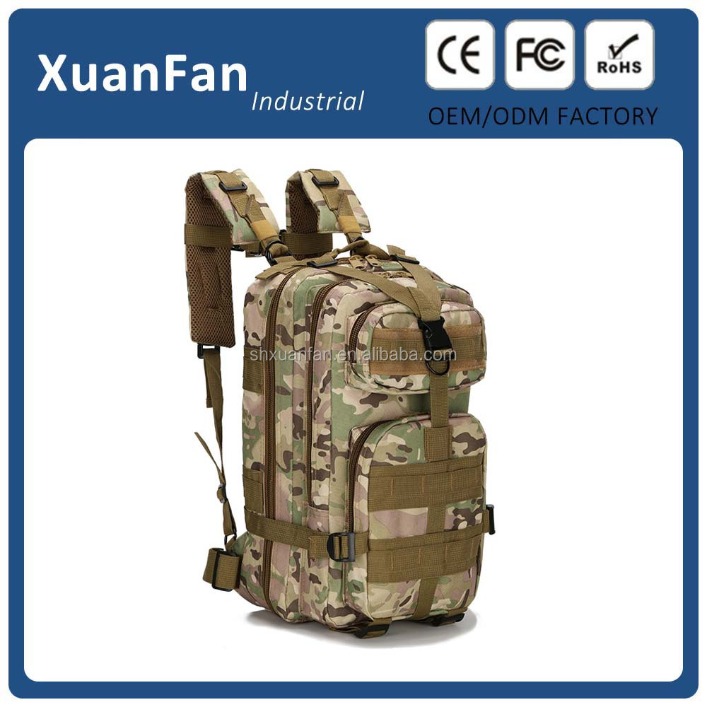 2017 Newest outdoor waterproof tactical molle backpack hiking bag