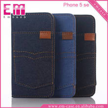 For iPhone 5SE Leather Cowboy Phone Wallet Case, Folio PU Leather Case For iPhone 5SE