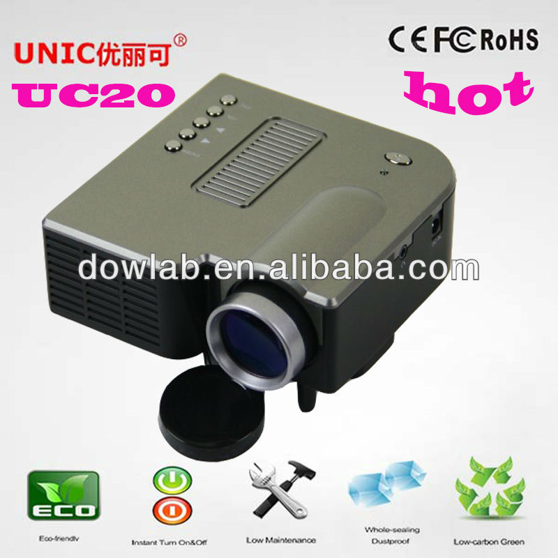Promotion!!!UC20 1080P support factory price hot sale mini pocket projector