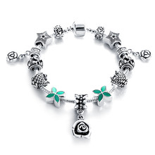 2017 Jewellery European Style Charm Bracelets For Women Antique Silver Multi Design Metal Bead DIY Jewelry Pulseras PCBR0142
