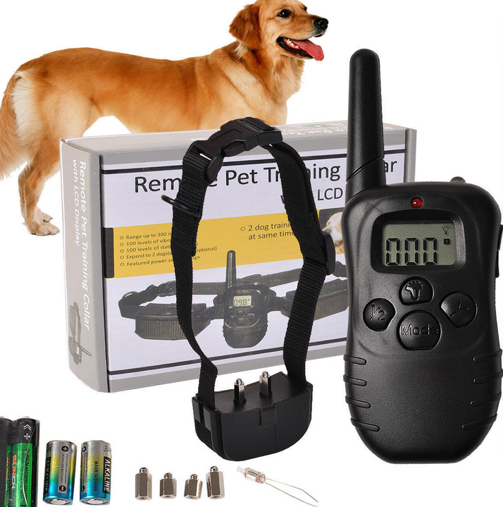 new rechargeable and waterproof remote dog training collar pet products obedience training for dogs