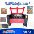 CNC laser cutting machine price for wood acrylic leather TS1290D