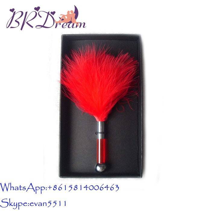Hot selling pipedream cheaper price sexy purple feather tickler