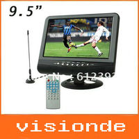 wholesale 9.5 inch TFT LCD color Analog TV with wide view angle, Support SD/MMC Card, USB Flash disk