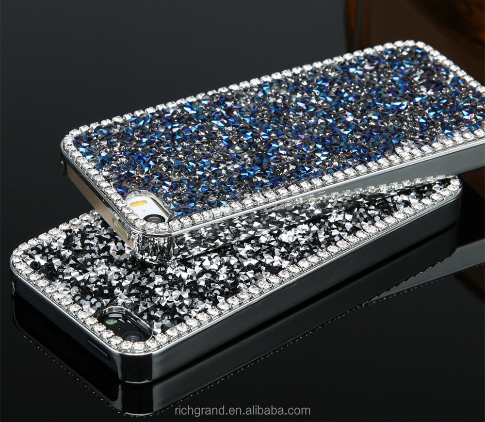 Luxury Bling Rhinestone Hard cover pretty phone case for iphone 5c/ 5/ 6 /6 Plus