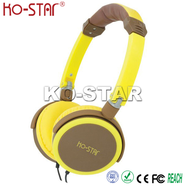 Stereo Rubber Finish Best Selling Headphone with Embossed Logo Pressure Reduction Ear Cushions