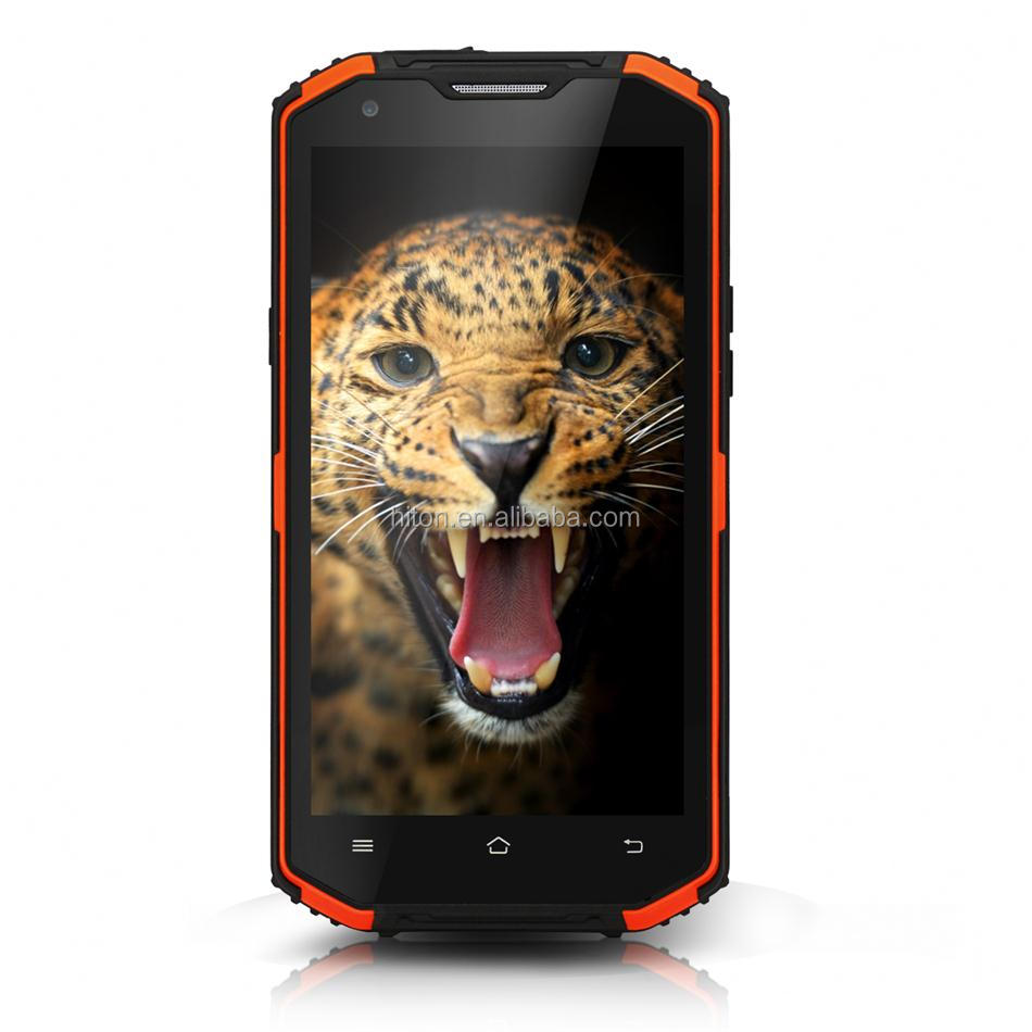 Factory original 5.5inch MTK Android 5.1 IP68 Rugged cellphone with IPS HD 1280*720 Pixels water smartphone drop proof phone