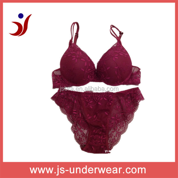 Good Quality Young Girls lace sexy bra and panties,hot girl bra models nice girls nude bra plus sizeJS-013, Accept OEM