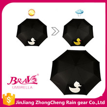 special umbrella when raining change color 3 folding umbrella custom print umbrella