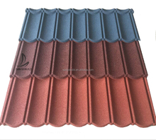 Africa corrugated roofing materials UV resistant sand stone coated steel roofing tiles for prefab house roof