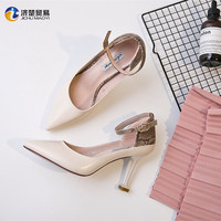 Sexy female office party high heels snake skin pattern lady heels shoes 2017 arrivals
