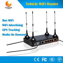 CM520-8VF 12V industrial vehicle 3G 4G GPS bus car wifi router in bus 3g modem with 4 lan port