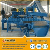 high output used rubber tire recycling machine/tire crushing equipment