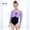 Girls Christmas Long Sleeve Ballet Dance Tops