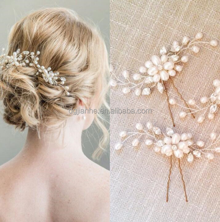 Good price of bride pearl hairpin with good quality