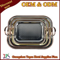 stainless steel large serving tray T343