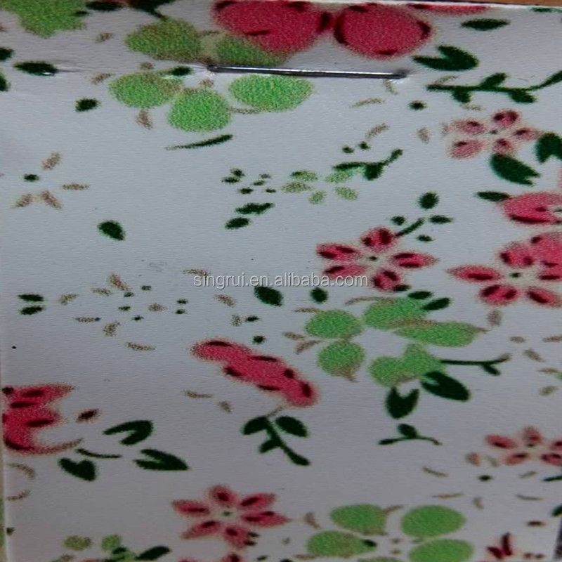 2016 China flower pattern synthetic leather fabric( flor motivo pu cuero