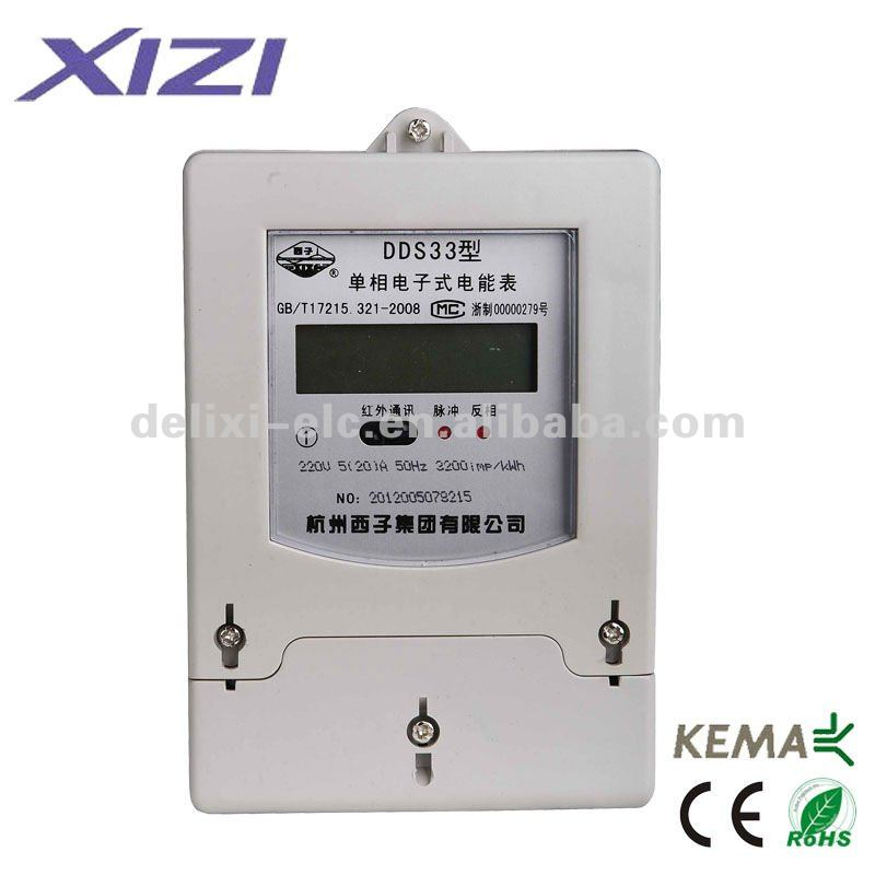 DDS33 Single Phase Digital Electric Energy Meter