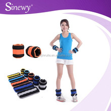 Exercise fitness adjustable wholesale ankle and wrist weights with sand for crossfit