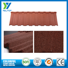 Colorful china stone coated metal roof shingles