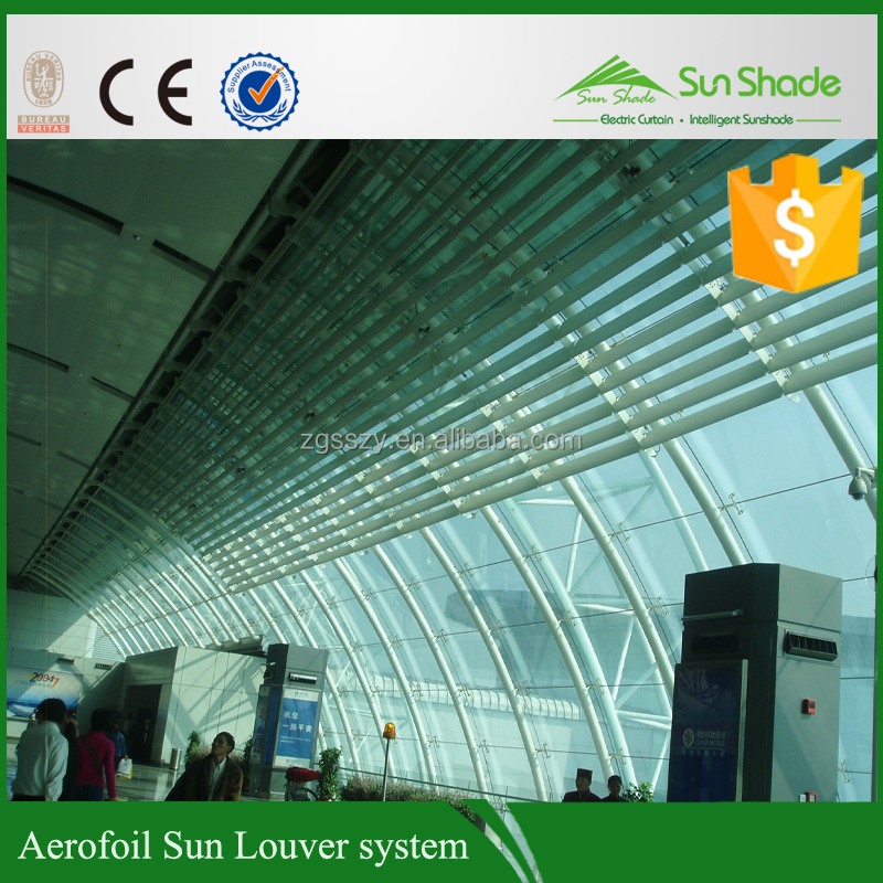 Wind & sun sensor wireless control Adjustable Aluminium Louvre