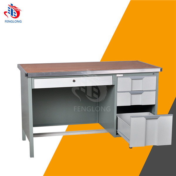 Commercial Furniture General Use and Panel Wood Style desktop and metal frame office desk