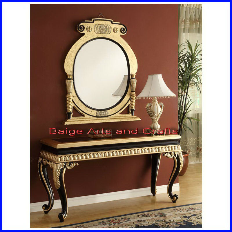 Classic French Style Wall Console Table with Mirror S-1804B