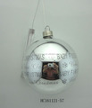 Glass ball with led lights Christmas decoration, 2*AA battery box