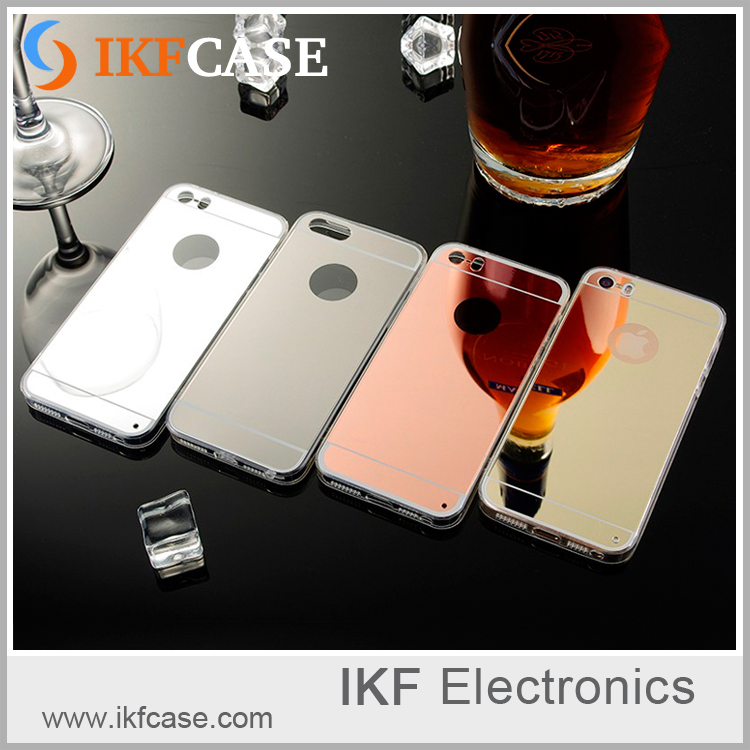 Best Quality wholesale mobile phone case with mirror for iphone 5/5s