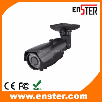 "ENSTER 2.0MP Waterproof H.265/H.264 Bullet CCTV IP Camera Varifocal Lens 72pcs IR LED 60M Mobile Phone View 1/2.7"" CMOS with ICR"