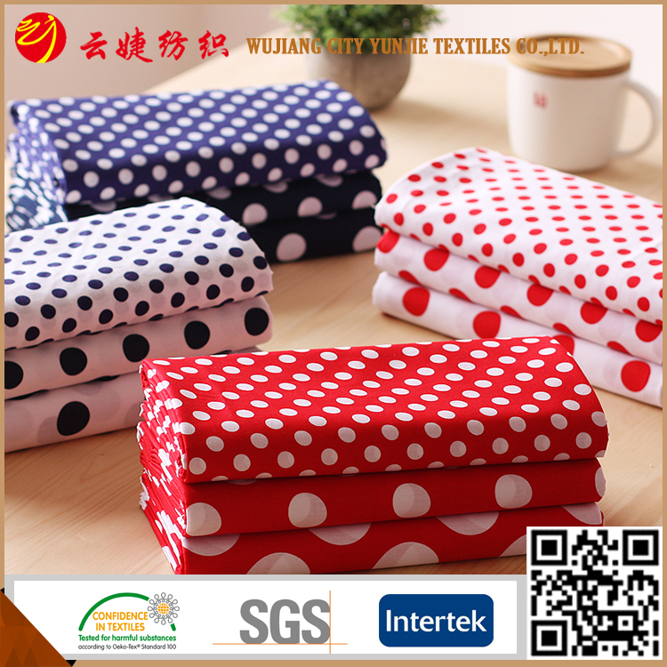Round dots printed Polyester promotion poly microfiber fabric