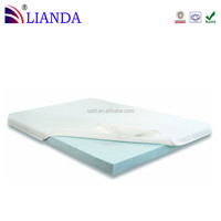 Folding cooling gel foam bed mattress pad