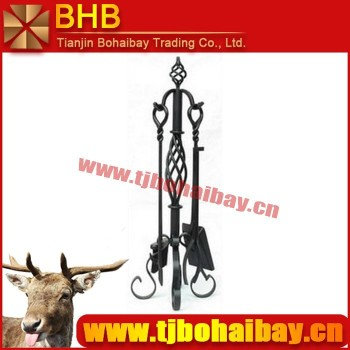BHB-S912 four pieces/set wood fireplace tool