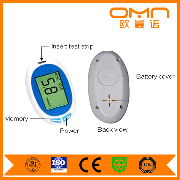 new design High Quality Big Screen Digital blood glucose meter With PC-link USB Cable / Precise silver strips EB-G