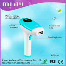 Handheld diode laser permanent hair removal system with replaceable lamp 120000flashes