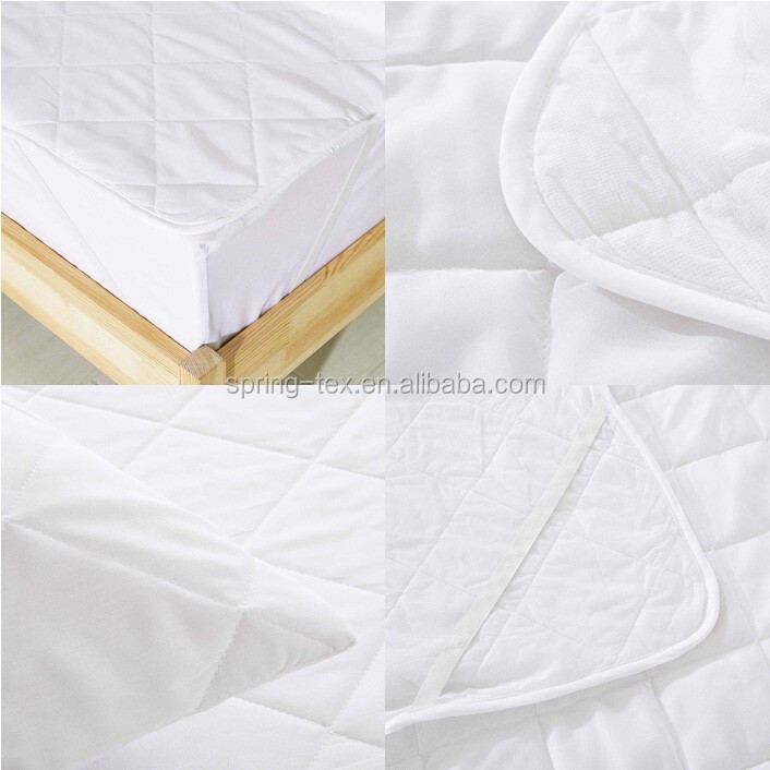 Ivory White Bamboo/Polyester Quilted Hypoallergenic Waterproof Crib Fitted Sheets