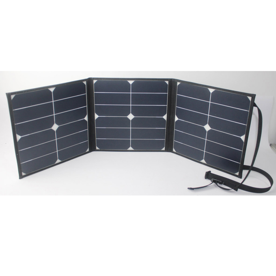 High efficiency camping use 40W sunpower foldable solar panel