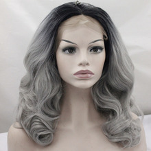 Wholesale synthetic wigs with lacefront