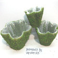 Decorative Moss flower basket moss flower pot for sale