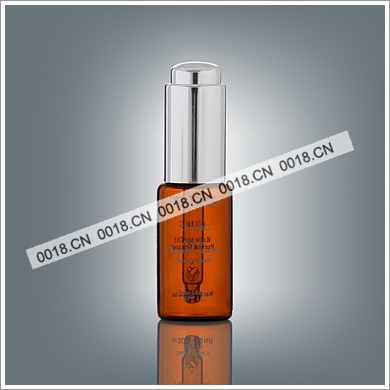 15ml serum dropper bottle with shiny silver dropper cap (press type)