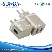 2016 best selling 5V 2.1A dual usb port home charger