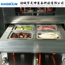 Fruit and vegetable tray sealer/ food tray vacuum filling packing machine