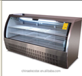 USA deli case,store display refrigerated cabinet,food display equipment, curved frontal glass