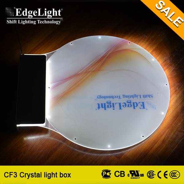 Edgelight LED display advertising outdoor waterproof double sides led frames backlit light box