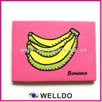3D banana fruit rubber pvc fridge magnet