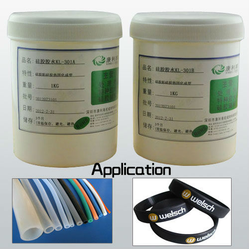 Silicone heat-set adhesive silicone glue adhesive for silicone rubber
