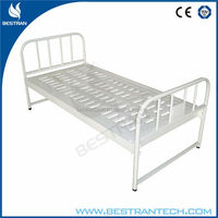 Clinical Medical Flat Bed Frame With 1-Part Bedboard antique iron hospital beds