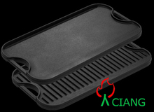 cast iron BBQ griddle plate cookware in different size