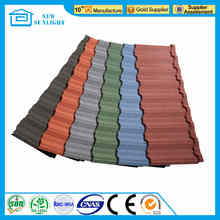 South Africa Colorful Stone Coated Steel Roofing Tile